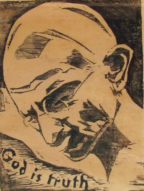 Gandhi by Werner Drewes