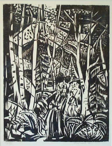 In The Woods by Werner Drewes at