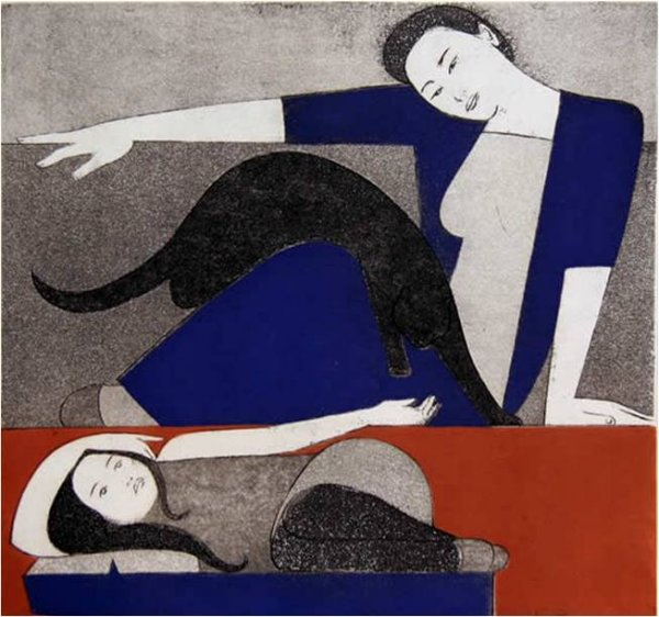 Blue Robe, The by Will Barnet