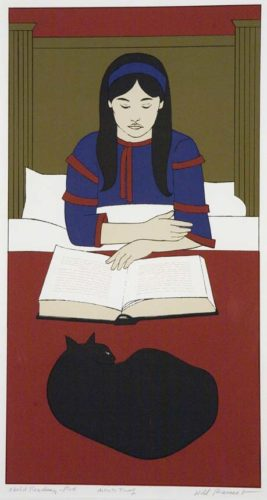 Child Reading – Red by Will Barnet