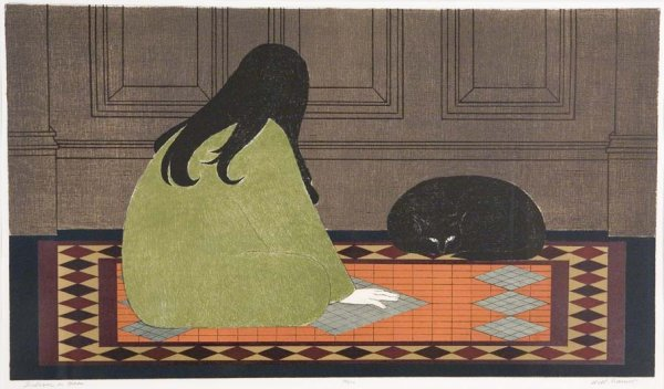 Dialogue In Green by Will Barnet at ebo Gallery