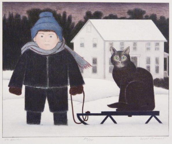 The Sled by Will Barnet at ebo Gallery