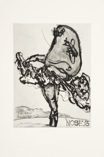 Nose 15 by William Kentridge at Emanuel von Baeyer - Cabinet (IFPDA)