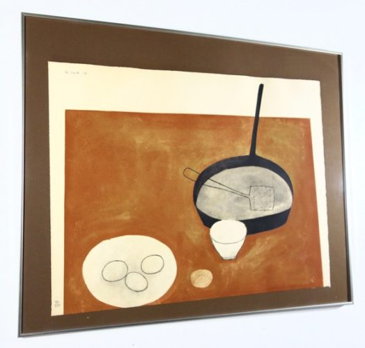 Still Life With Frying Pan And Eggs by William Scott at