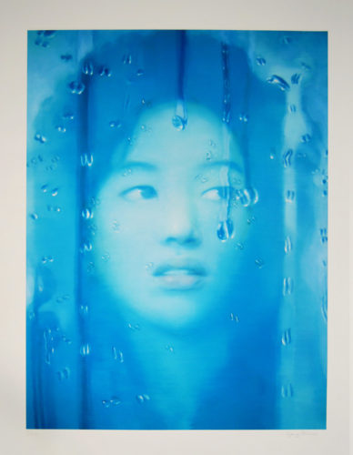 Water Drop Untitled, Blue by Yang Qian