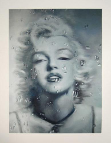Water Drop Untitled, Grey by Yang Qian at
