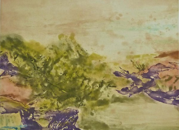 Etching No. 325 by Zao Wou-ki at Gilden's Art Gallery (IFPDA)