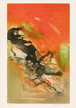 "Untitled Sheet 2 From ""canto Pisan"" (ezra Pound) by Zao Wou-ki at"