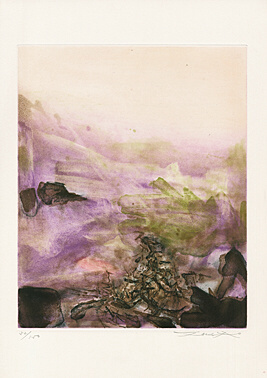 "Untitled Sheet 5 From ""canto Pisan"" (ezra Pound) by Zao Wou-ki at"