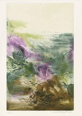 "Untitled Sheet 7 From ""canto Pisan"" (ezra Pound) by Zao Wou-ki at"