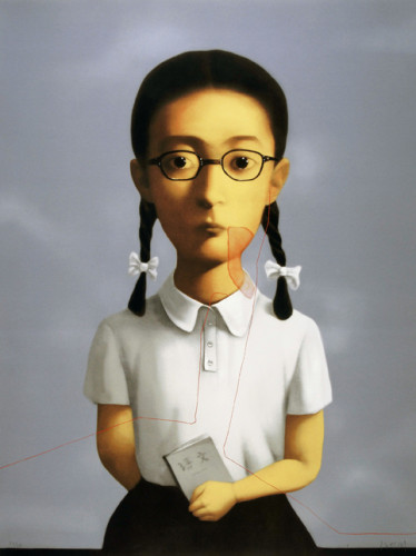 Bloodline Series: Girl by Zhang Xiaogang