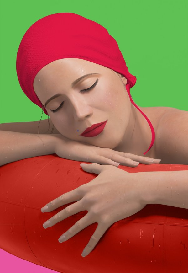 Serena With Red Cap by Carole Feuerman