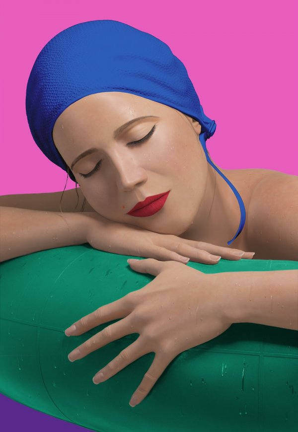 Serena Blue Cap by Carole Feuerman