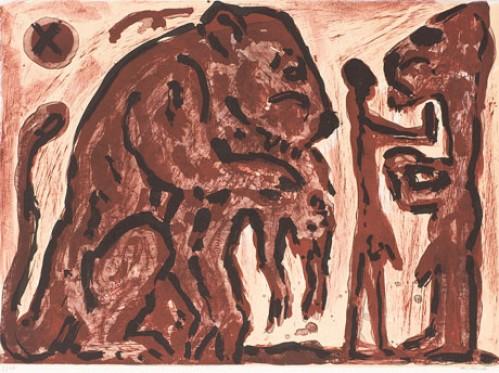 Erinnerung Unbekannt by A.R. Penck at