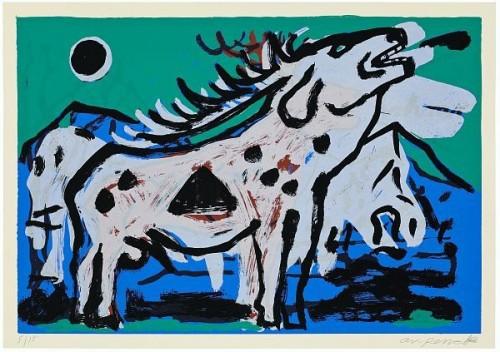 Großer Hirsch Xi by A.R. Penck