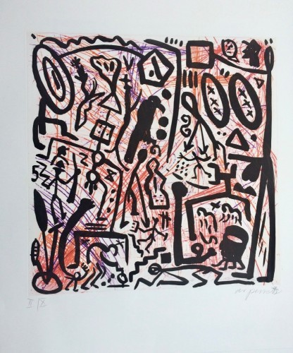 Untitled (black Figures) by A.R. Penck at www.kunzt.gallery