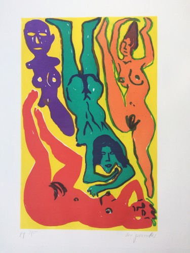 Untitled (color Figures) by A.R. Penck at www.kunzt.gallery