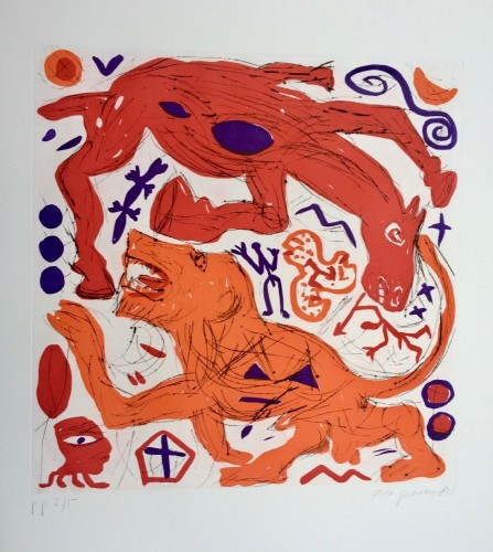 Untitled (horse & Lion) by A.R. Penck at www.kunzt.gallery