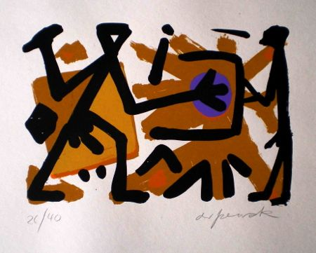 Untitled 4 by A.R. Penck at www.kunzt.gallery