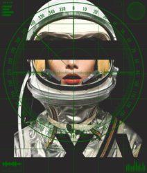 Astronaut Monochromie – Radar (green) by Abidiel Vicente & Houssein Jarouche Vicente at Taglialatella Galleries
