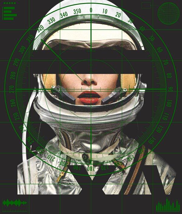 Astronaut Monochromie – Radar (green) by Abidiel Vicente & Houssein Jarouche Vicente