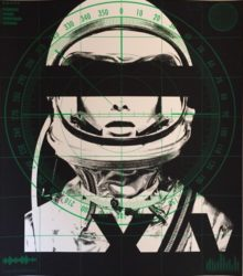Astronaut Quadrichromie – Radar (green) by Abidiel Vicente & Houssein Jarouche Vicente at Taglialatella Galleries