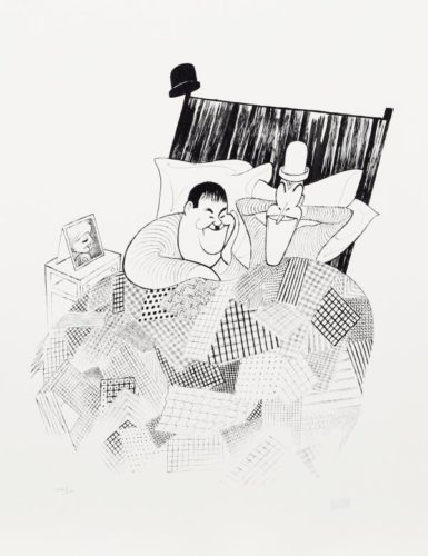 Laurel And Hardy (sweet Dreams) From The March Of by Al Hirschfeld