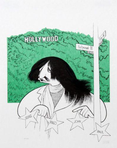 Ringo Starr Visits Hollywood by Al Hirschfeld