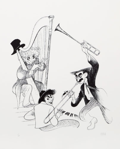 The Marx Brothers Musicale by Al Hirschfeld