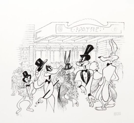 Warner Brothers At The Theatre by Al Hirschfeld