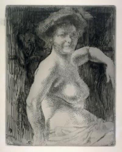 Etude De Nu / La Toilette (the Bath) by Albert Besnard
