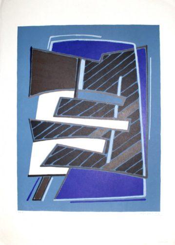 Composizione In Azzurro by Alberto Magnelli at