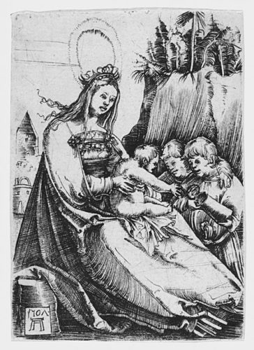 Maria And Two Kids by Albrecht Altdorfer at