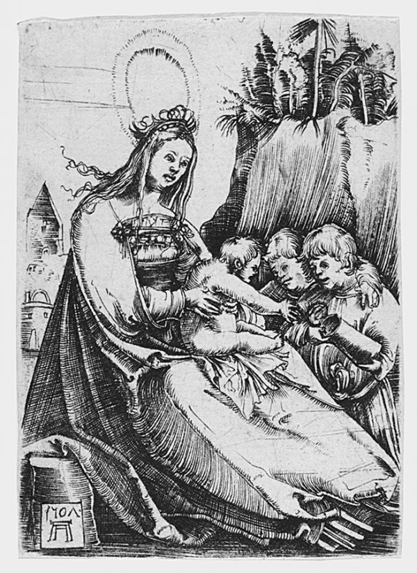 Maria And Two Kids by Albrecht Altdorfer