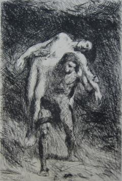 Caïn Et Abel by Alexandre Falguière at