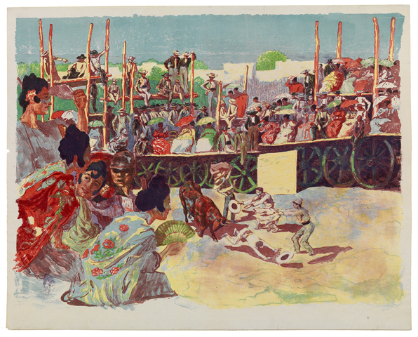 La Corrida: Une Corrida à La Campagne (a Country Bullfight) by Alexandre Lunois at