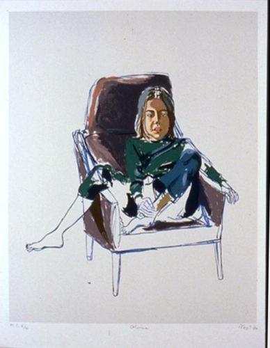 Olivia (in Brown Chair) by Alice Neel
