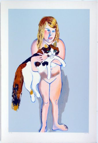 Victoria And The Cat by Alice Neel