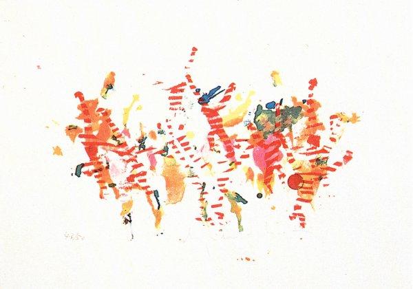 Saltando Di Palo In Frasca by Alighiero Boetti at