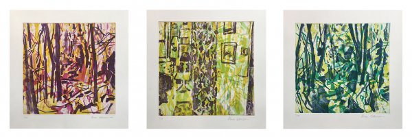 Suite Of Prints: Untitled (red, Yellow, And Green) by Allison Gildersleeve at