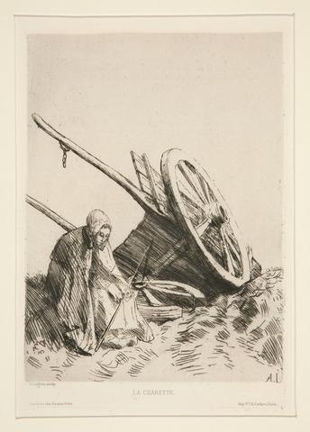 La Charrette Brisée by Alphonse Legros