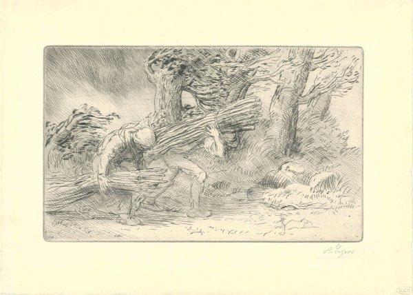 Les Fagottiers by Alphonse Legros