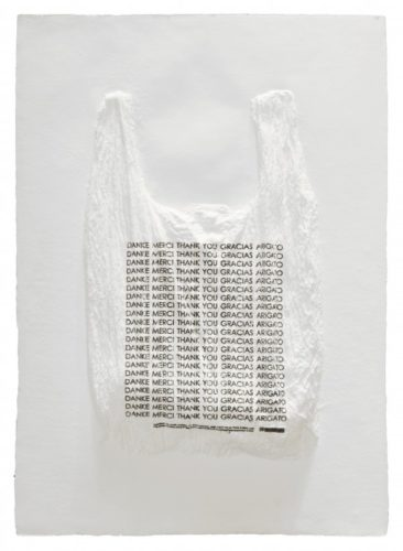 Danke Merci Thank You Gracias Arigato Plastic Bag by Analia Saban