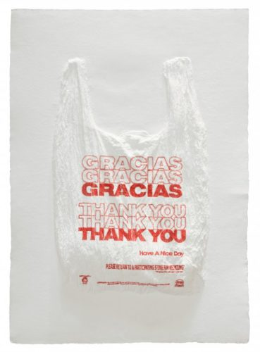 Gracias… Thank You… Plastic Bag by Analia Saban