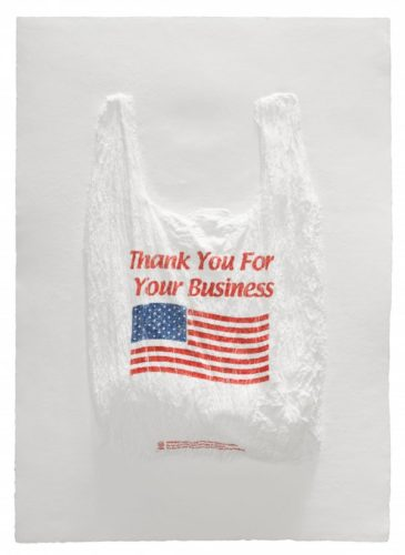 Thank You For Your Business Plastic Bag by Analia Saban