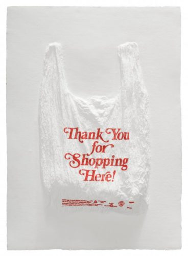 Thank You For Shopping Here! Plastic Bag by Analia Saban