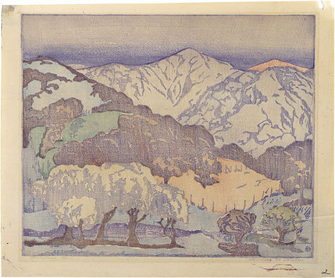 California Hills – Lighter Palette; Monoprint by Anders Gustave Aldrin