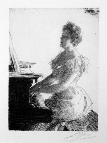 At The Piano by Anders Zorn at
