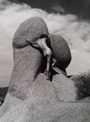 Nu Sur Le Rocher by Andre De Dienes