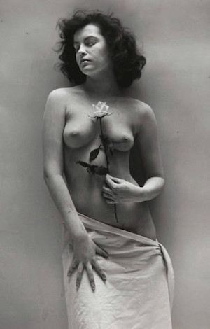 Nude With Rose by Andre De Dienes